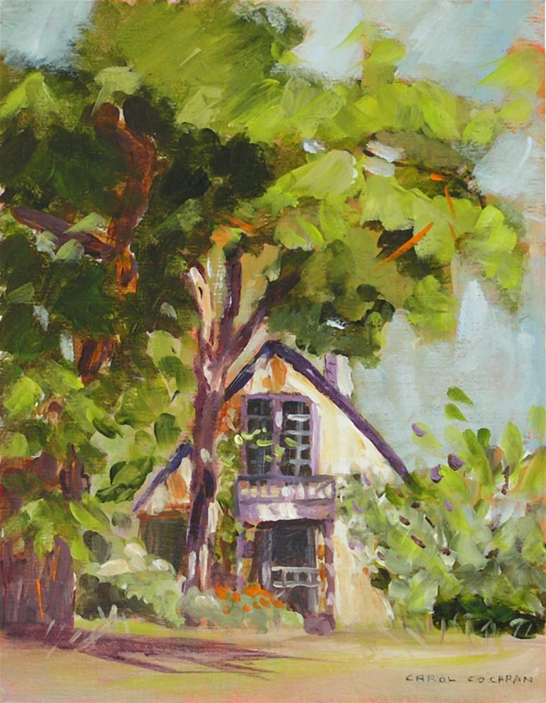 """Jacksonville Cottage"" original fine art by Carol Cochran"