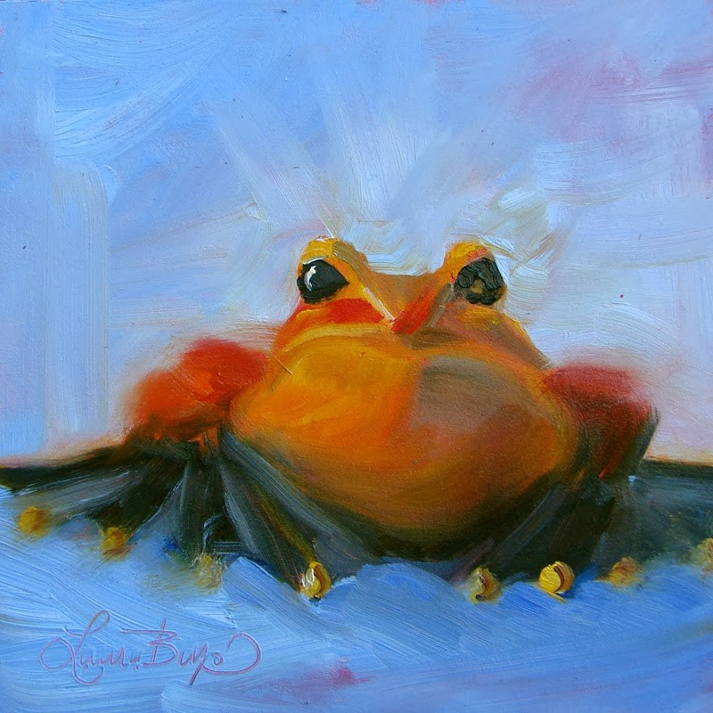"""Burt - 103"" original fine art by Laura  Buxo"