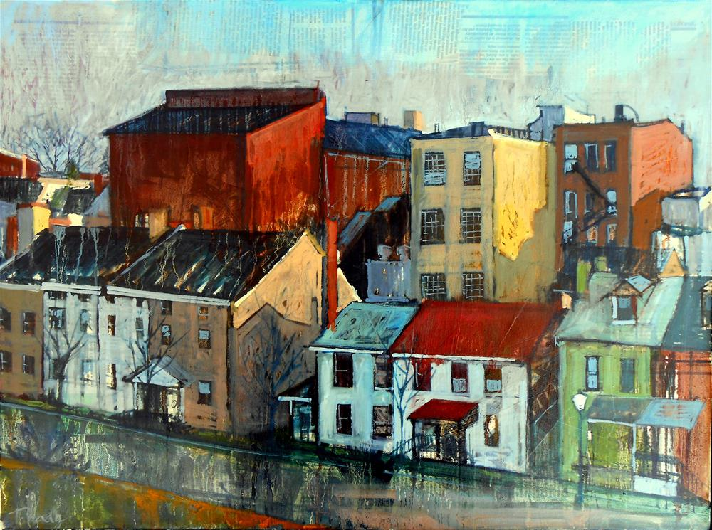 """Puddlers Row"" original fine art by Teresa Haag"