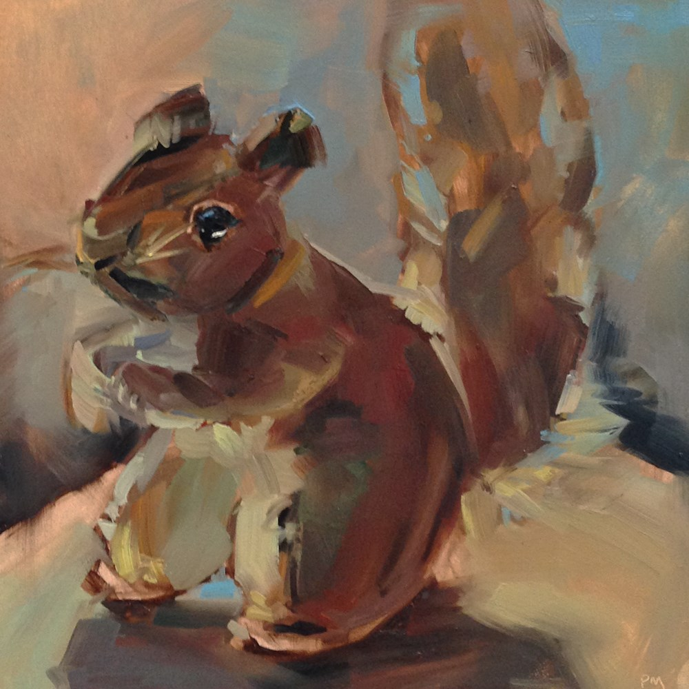 """Squirrel!"" original fine art by Patti McNutt"