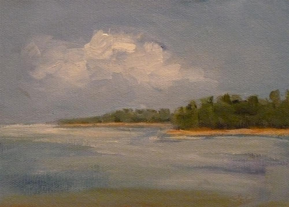 """From a Boat"" original fine art by Jo-Ann Sanborn"
