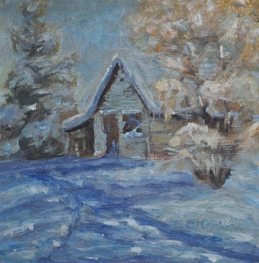 """Winter in the Mountains"" original fine art by Catherine Crookston"