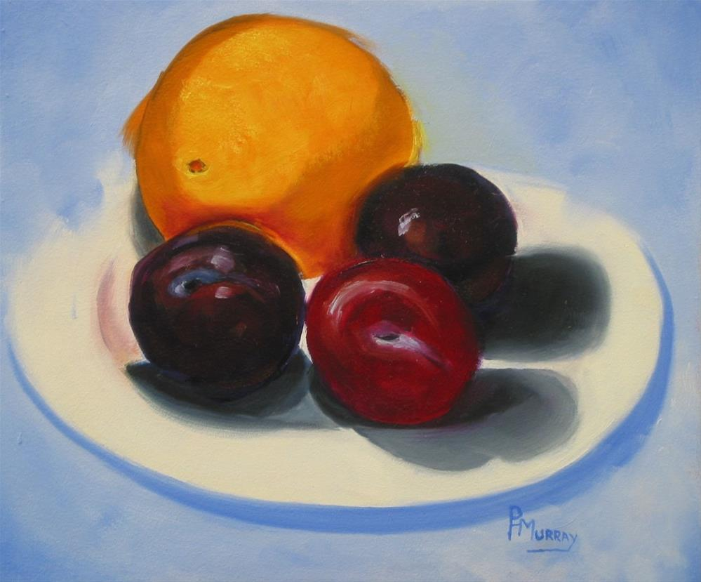 """Plum Good (er)"" original fine art by Patricia Murray"