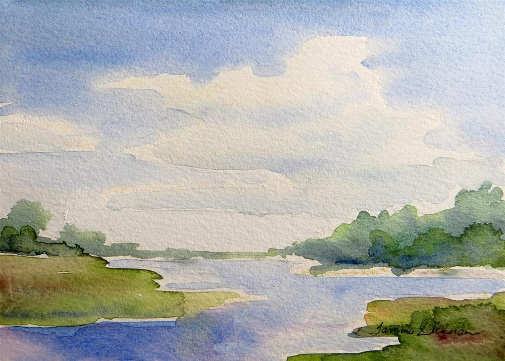 """Summer Lake"" original fine art by Tammie Dickerson"