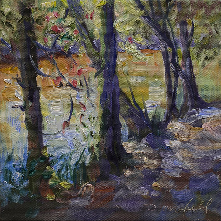 """River Shallows"" original fine art by Denise Maxwell"