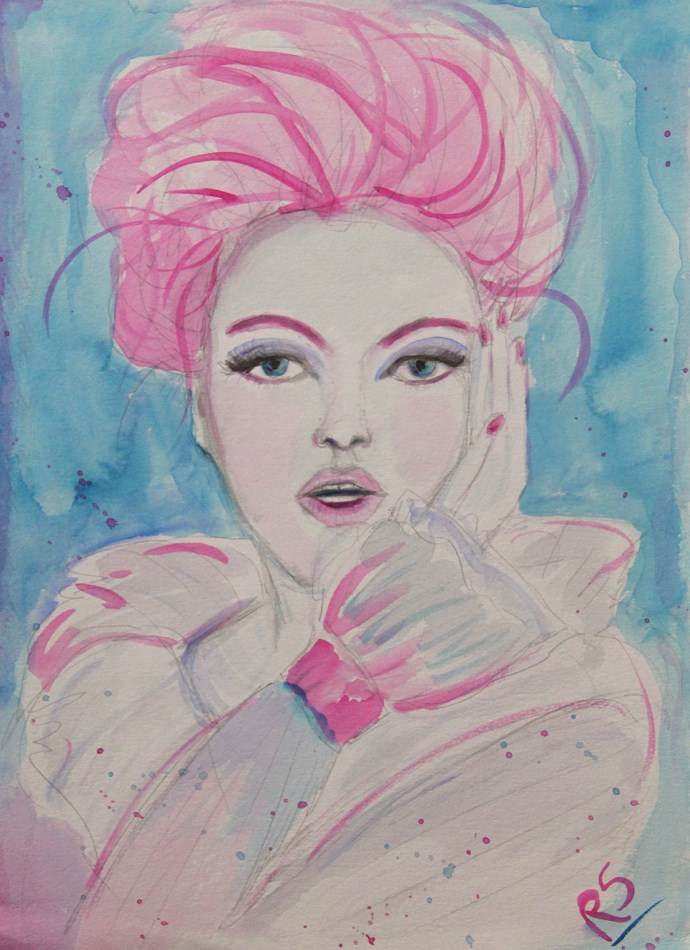 """Pink"" original fine art by Roberta Schmidt"