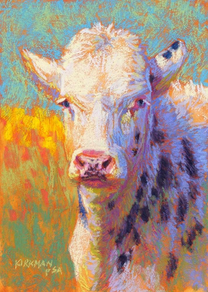 """""""Bleu d'Auvergne"""" original fine art by Rita Kirkman"""