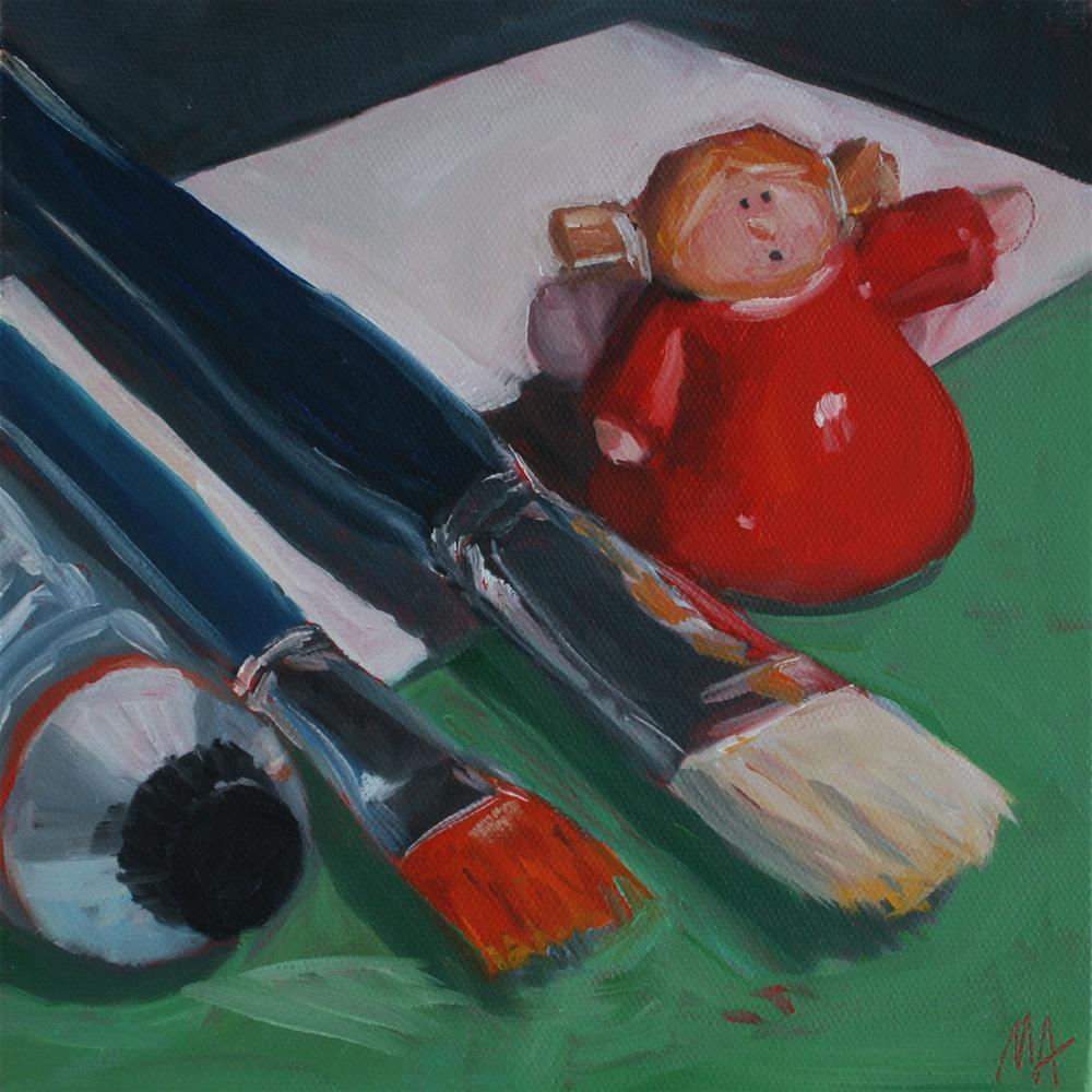 """Go Paint!"" original fine art by Aniko Makay"