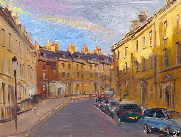 """""""Evening Light, Park Street, Bath"""" original fine art by Adebanji Alade"""