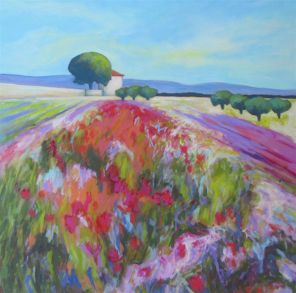 """Chateau de Bourgane Poppies"" original fine art by Patricia MacDonald"