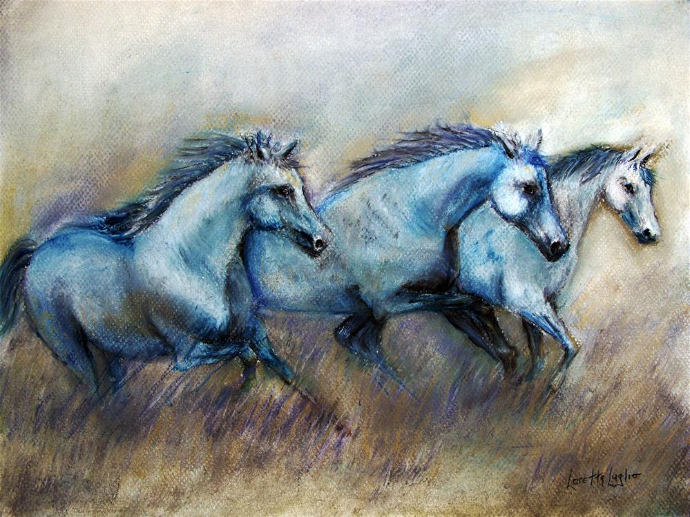 """""""Tres Amigos"""" original fine art by Loretta Luglio"""