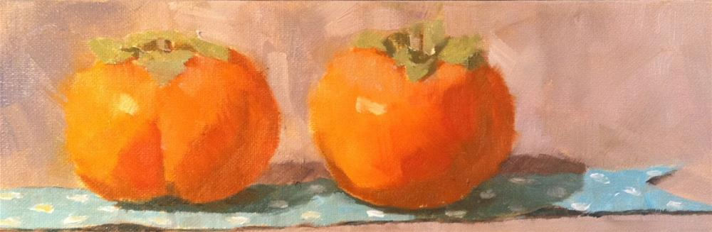 """Pair of Persimmons"" original fine art by Katharine March"