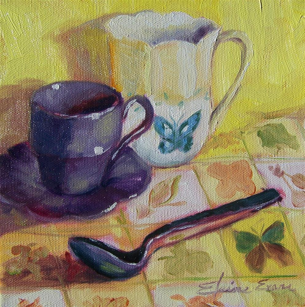 """Tea Time"" original fine art by Elaine Evans"