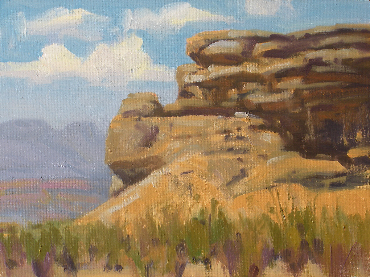 """Approaching the Chisos"" original fine art by David Forks"