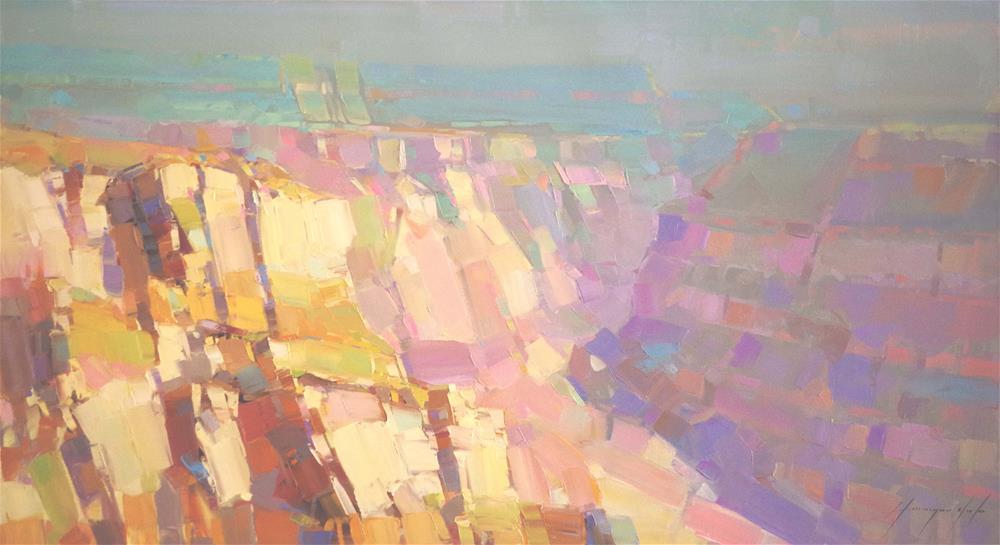 """""""Grand Canyon Impressionism"""" original fine art by V Y"""