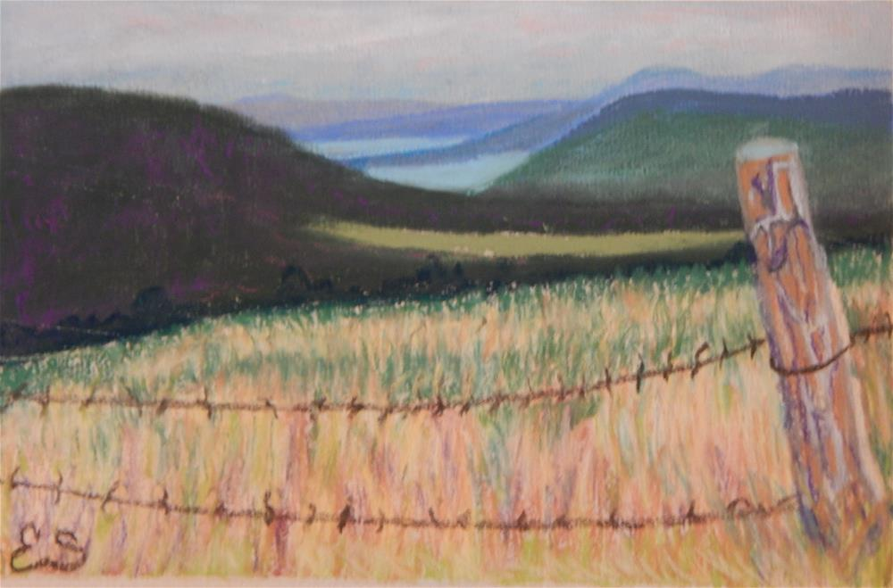 """Driving Around at Deep Creek Lake"" original fine art by Elaine Shortall"