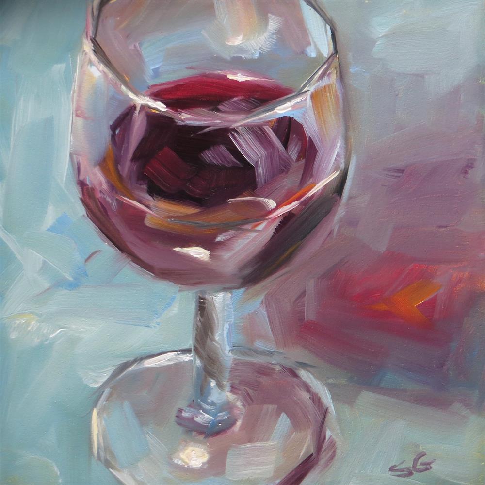 """Merlot"" original fine art by Susan Galick"