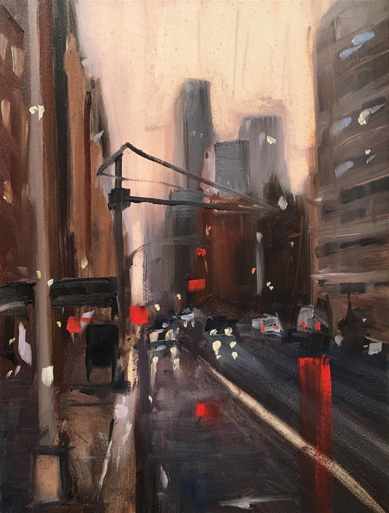 """""""#298 New York Rain"""" original fine art by Patty Voje"""