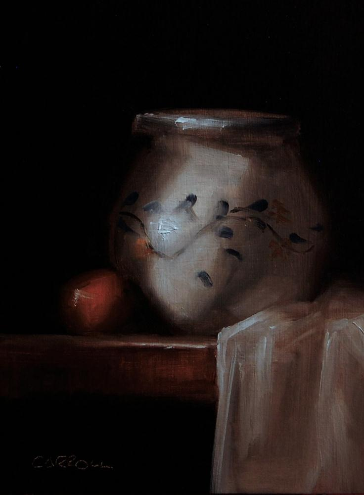 """White Pot"" original fine art by Neil Carroll"