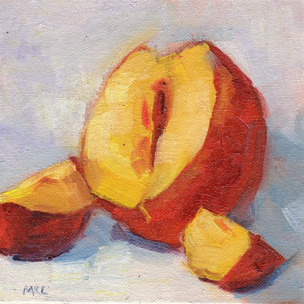 """""""Cup Up Nectarine"""" original fine art by Marlene Lee"""