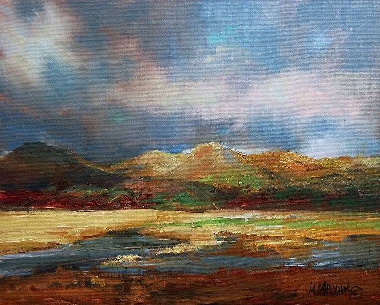 """Golden"" original fine art by Mary Maxam"