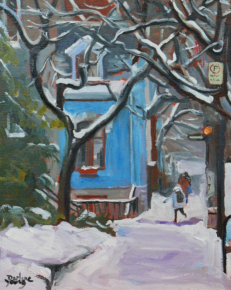 """586 McGill Student Ghetto"" original fine art by Darlene Young"
