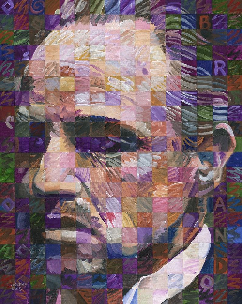 """""""Marlon Brando as Don Vito Corleone"""" original fine art by Randal Huiskens"""