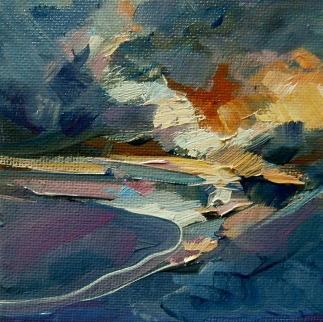 """Light near the Shore"" original fine art by Anne Wood"