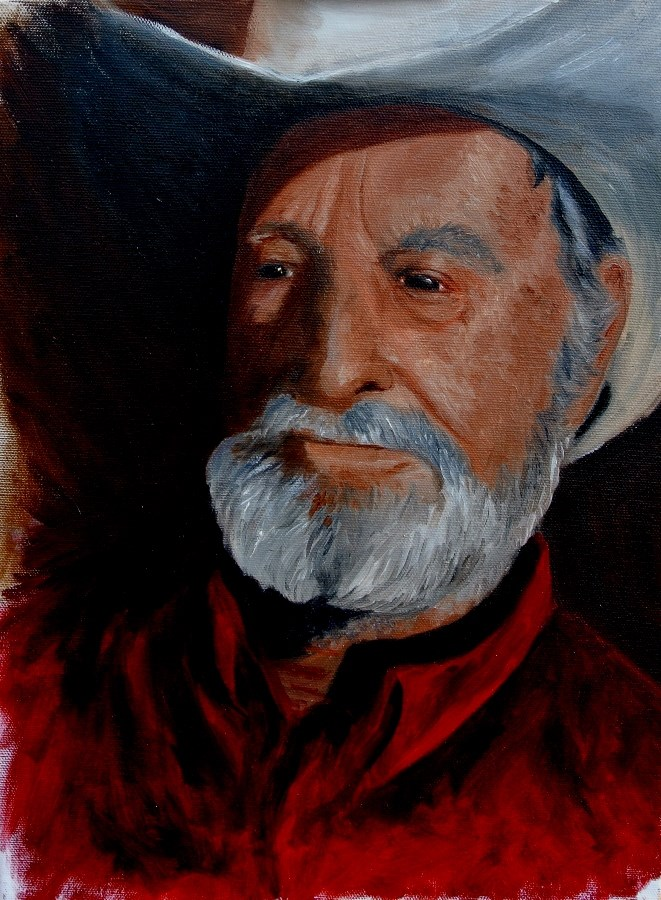 """Mountain Cowboy"" original fine art by Mary Datum"