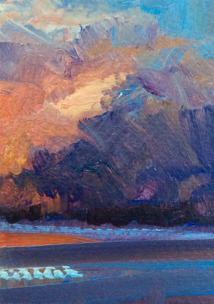 """Night Beckons"" original fine art by Anne Wood"
