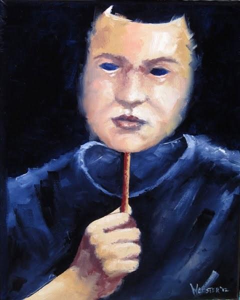 """""""Mark Webster - Self Portrait Mask Oil Painting"""" original fine art by Mark Webster"""