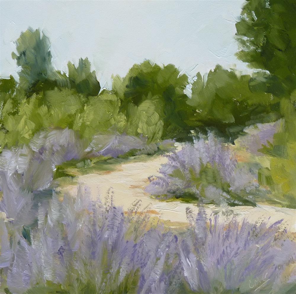 """Lavender Path"" original fine art by Cindy Greene"