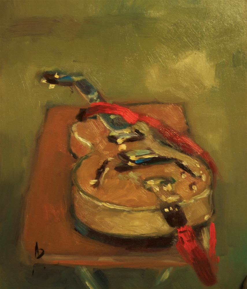 """Epiphone (Joe Pass Model)"" original fine art by Andre Pallat"