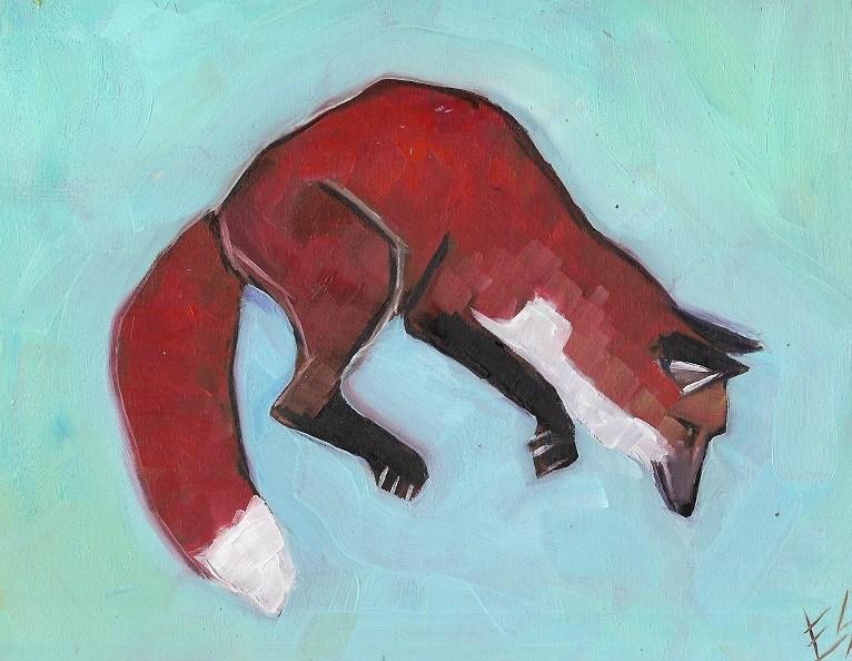 """""""Fox"""" original fine art by Elizabeth See"""