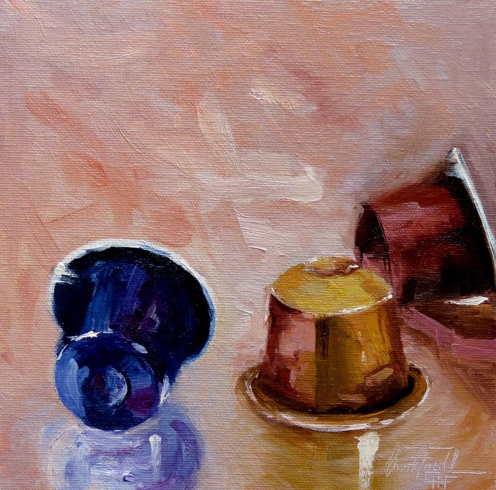 """""""Nespresso - What else?"""" original fine art by Christa Friedl"""