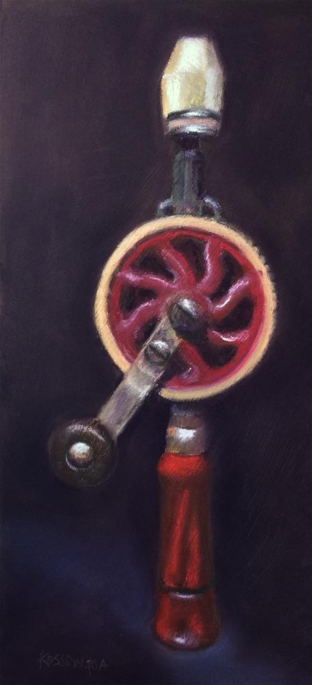 """Yankee Drill III"" original fine art by Cristine Kossow"