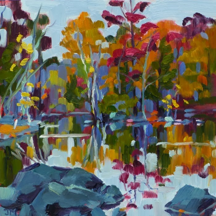 """Morning on the Reservoir No. 2"" original fine art by Jessica Miller"
