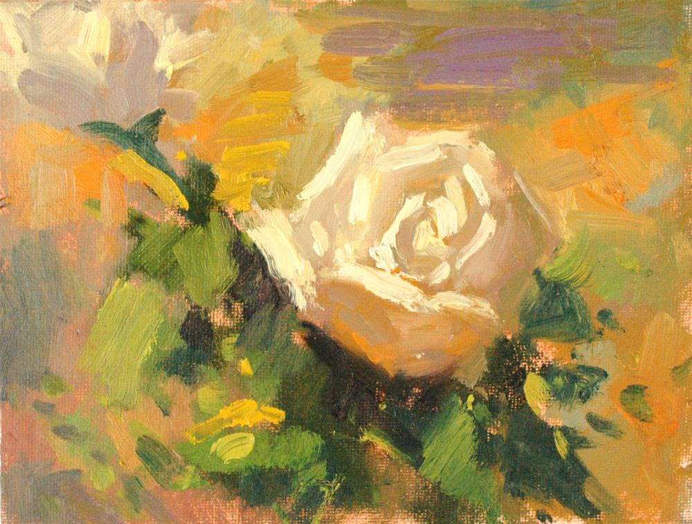 """Outdoor Rose"" original fine art by Michael Clark"