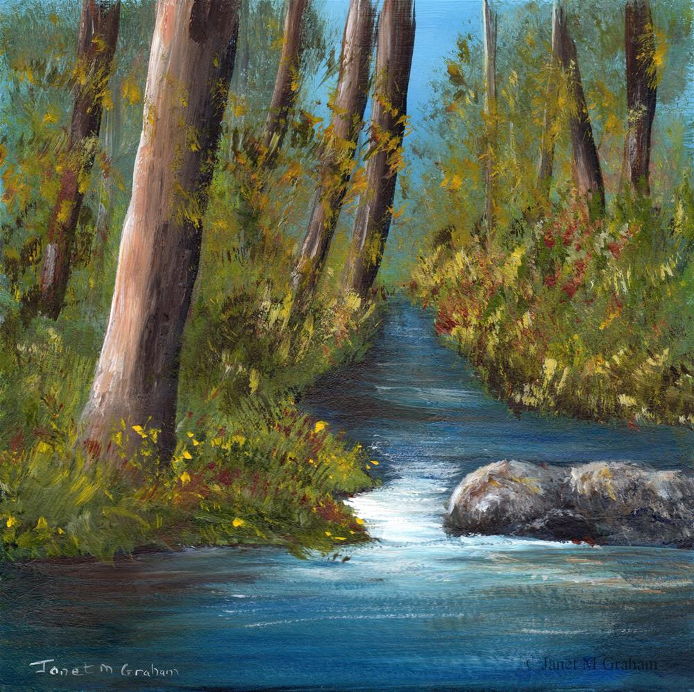 """River Forest No 2"" original fine art by Janet Graham"