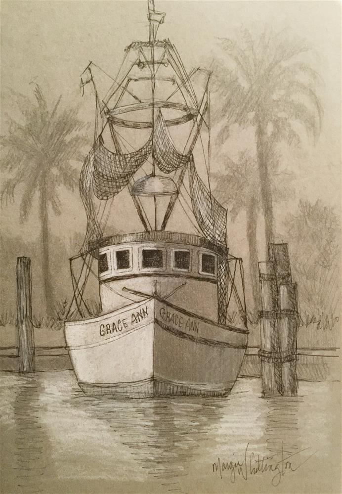 """Kemah Fishing Boat"" original fine art by Margie Whittington"