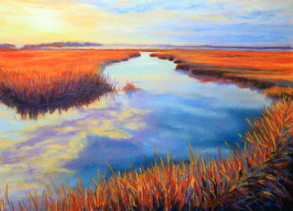 """Dawn Reflections"" original fine art by Jill Bates"