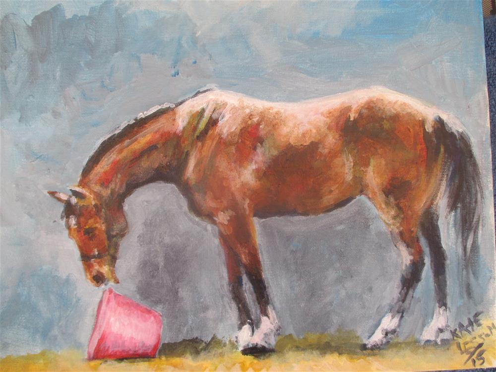 """The Pink Bucket"" original fine art by Kate Less-Madsen"