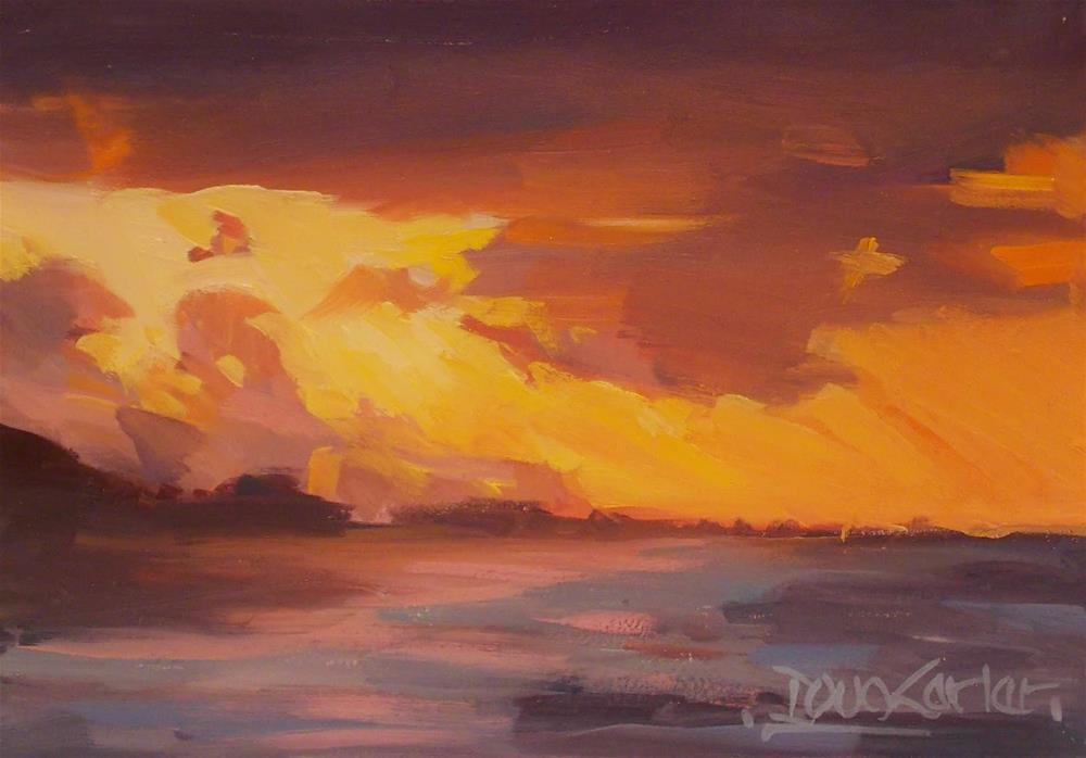 """ Summer Glow  by Doug  Cartet"" original fine art by Doug Carter"