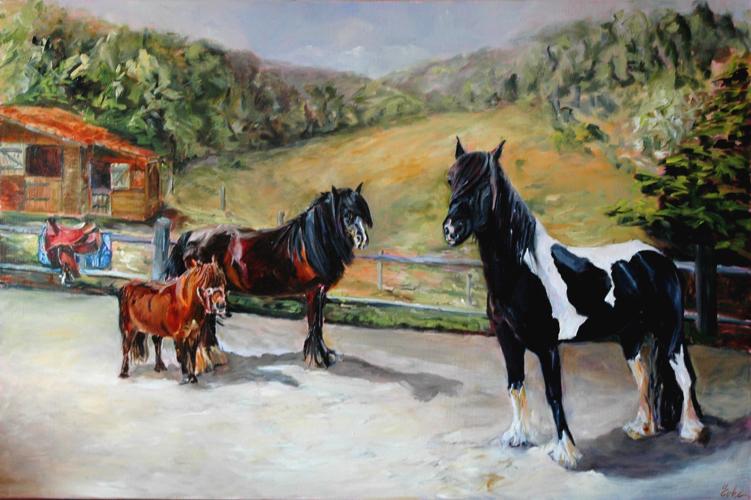 """""""Dans la carrière"""" original fine art by Evelyne Heimburger Evhe"""