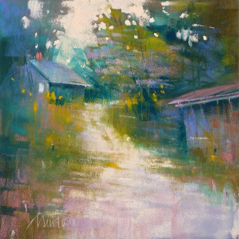 """House on the Hill"" original fine art by Barbara Benedetti Newton"