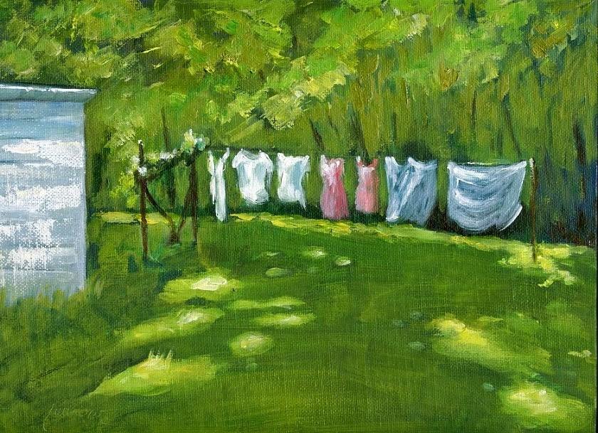 """Smelling Fresh and Kite Festival"" original fine art by Sue Furrow"