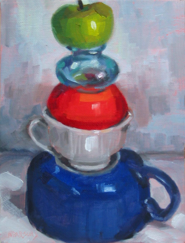 """""""Ta-Da"""" 8x6"""" original fine art by Nancy Parsons"""