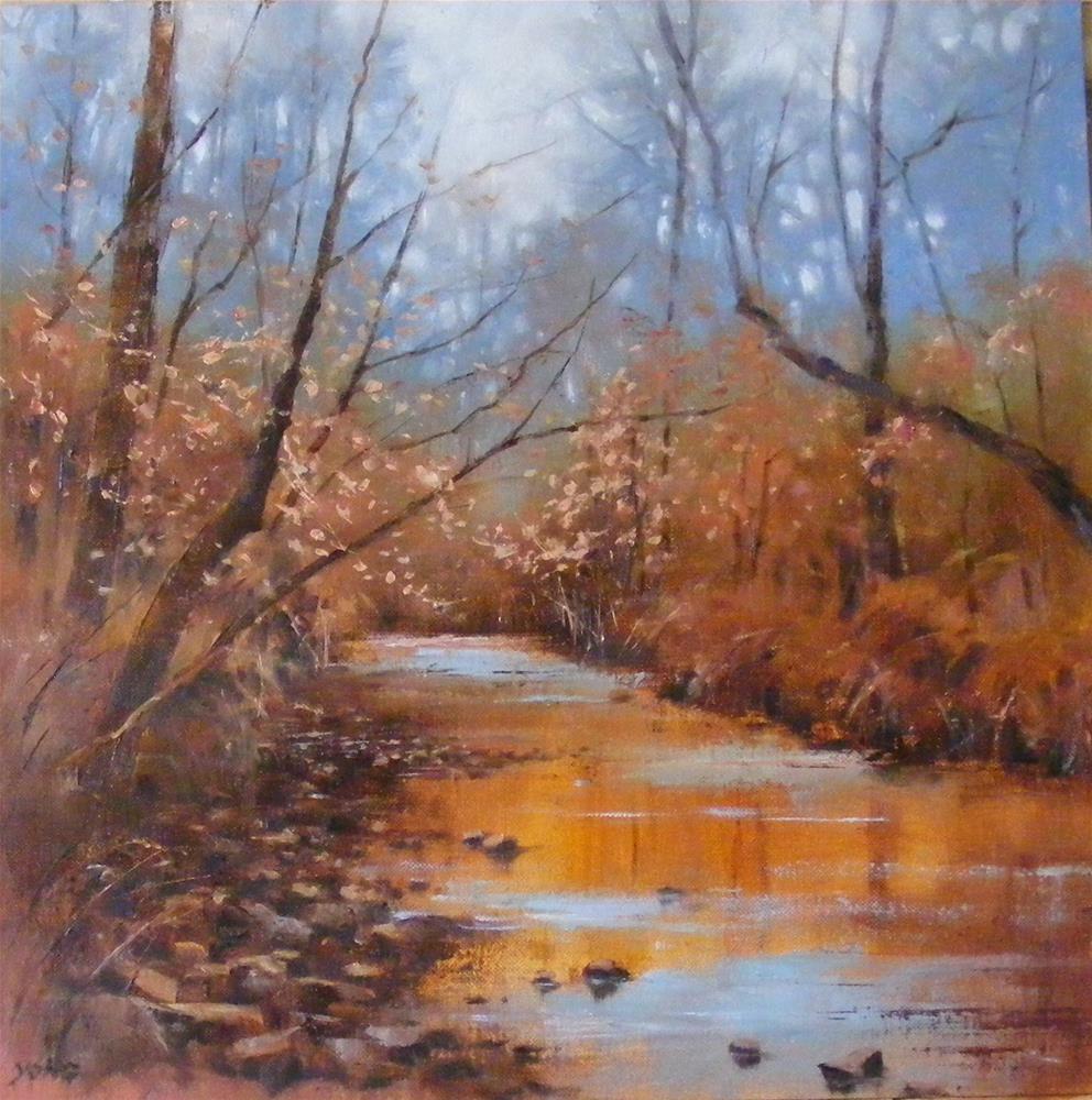 """""""Winter,still water"""" original fine art by Celine K.  Yong"""