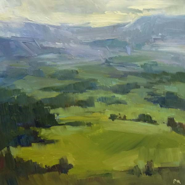 """Another Pisgah Vista"" original fine art by Patti McNutt"