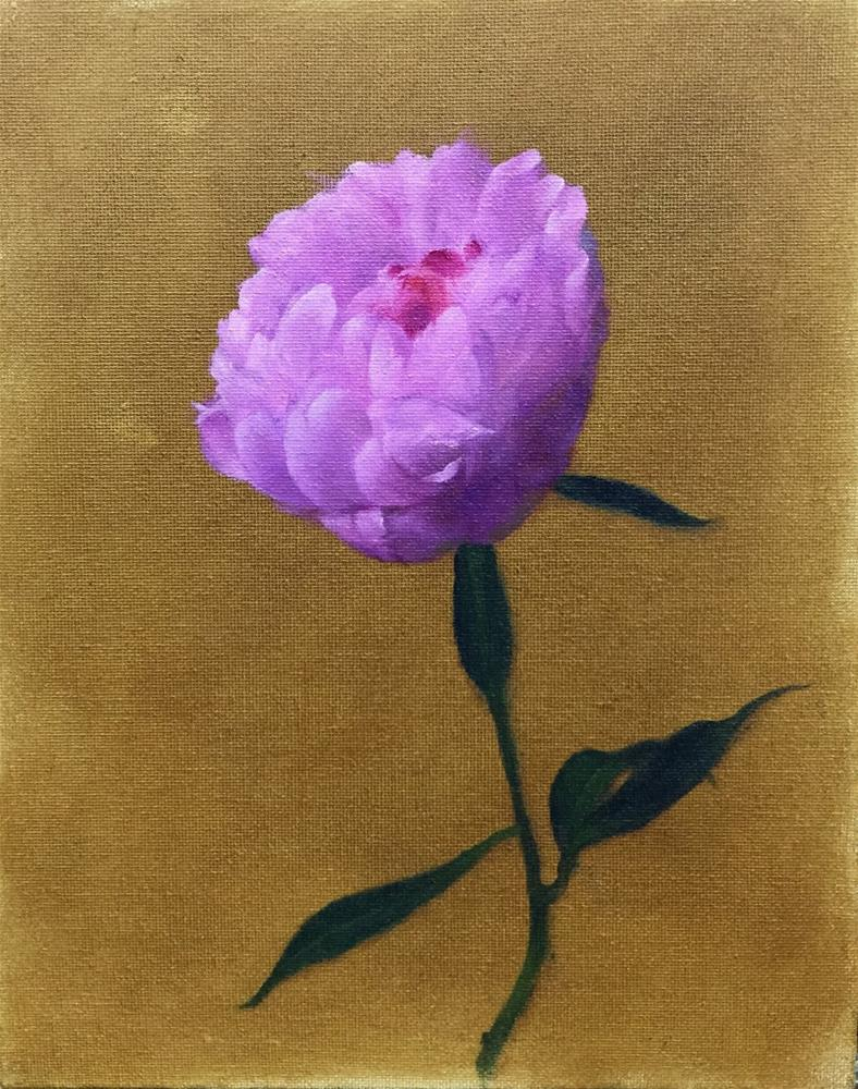"""Single Peony"" original fine art by Jonathan Aller"